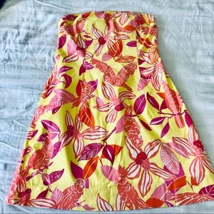 Lilly Pulitzer Strapless Cocktail Dress sz 8
